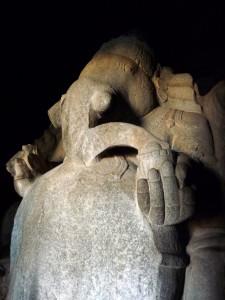 A statue of Ganesh, Hampi