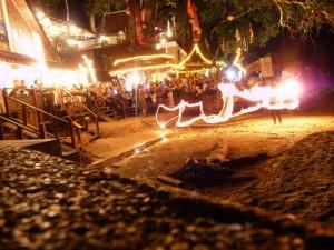 A fire show on Kata Beach