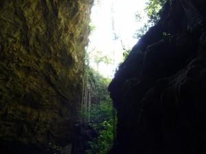 Descending into the Gruta do Lago Azul, Bonito