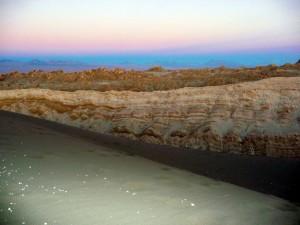 Rainbow sunset in Valley de la Luna, San Pedro Atacama