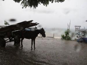Monsoon rain on Gili Trawangan