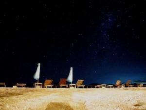 Star littered nightsky at Gili Trawangan