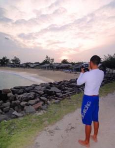 The breakwater at Serangan Island